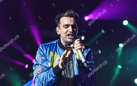 Jacob Hoggard of Hedley performs on stage