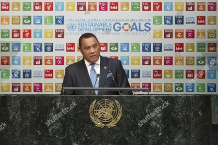 Perry Christie, Prime Minister and Minister of Finance of the Commonwealth of the Bahamas, addresses the General Assembly High-level Thematic Debate on Achieving the Sustainable Development Goals (SDGs)