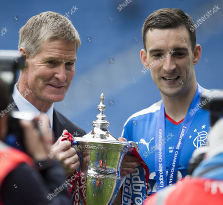 Stock Picture of Rangers former Captain Richard gough with Lee Wallace