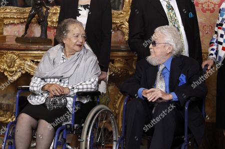 Mexican writer prizewinner Fernando del Paso Morante and wife Socorro