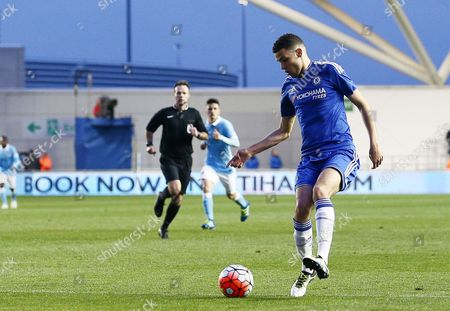 Isaac Christie Davies of Chelsea during the FA Youth Cup Final 1st Leg match between Manchester City and Chelsea played at the Academy Stadium, Manchester on April 22nd 2016