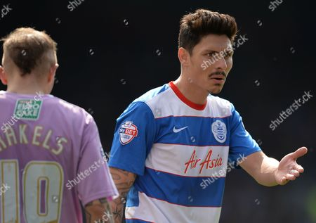 Alejandro Faurlin of QPR during the Sky Bet Championship match between QPR and Reading played at Loftus Road, London on April 23rd 2016