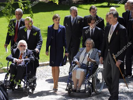 Editorial image of Spanish Royals attend Cervantes Awards Ceremony, Madrid, Spain - 23 Apr 2016