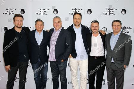 David Gelb, Ted Sarandos, Andrew Fried, Brian McGinn, Dane Lillegard