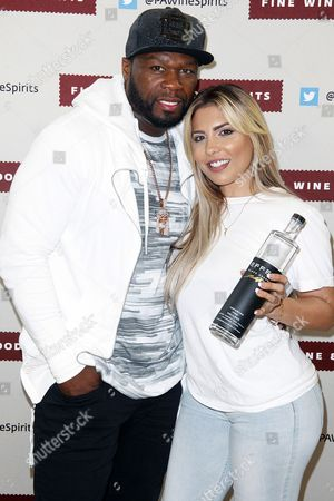Stock Image of 50 Cent and Natalie Guercio