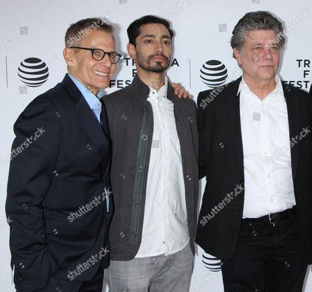 Michael Lombardo, Riz Ahmed and Steven Zaillian