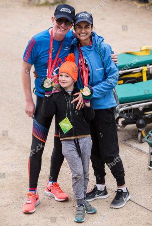 Stock Picture of Chris Evans, Natasha Evans and Noah Evans