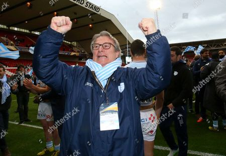 Stock Picture of Racing 92 owner Jacky Lorenzetti celebrates winning