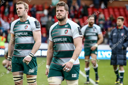 Leicester Tigers Tom Croft and Ed Slater dejected
