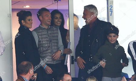 Jamie Vardy of Leicester City shares a joke with Wayne Lineker during the Barclays Premier League match between Leicester City and Swansea City played at The King Power Stadium, Leicester on 24th April 2016
