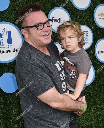 Stock Photo of Tom Arnold and Jax Copeland Arnold