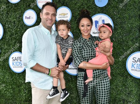 Stock Image of Adam Housley, Aden Housley, Tamera Mowry-Housley and Ariah Talea Housley