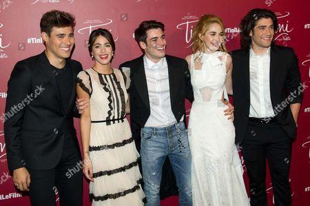 Jorge Blanco, Martina Stoessel , guest, Mercedes Lambre, Adrian Salzedo, Juan Pablo Buscarini
