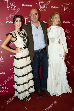 Martina Stoessel , director Juan Pablo Buscarini and Mercedes Lambre