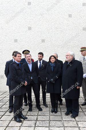 Manuel Valls, Anne Hidalgo and Jean-Marc Todeschini