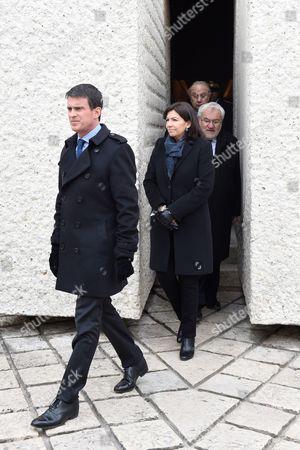 Manuel Valls, Anne Hidalgo and Jean Marc Todeschini