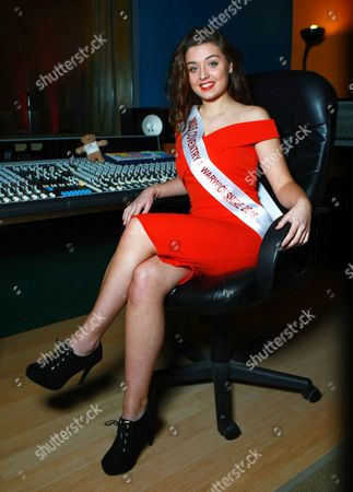 Editorial photo of Miss Coventry & Warwickshire Rheo Parnell records a charity single, Rugby, Britain - 25 Apr 2016