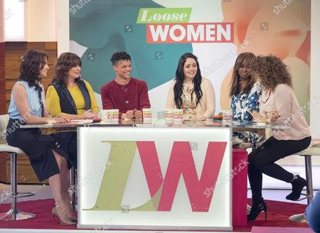 Andrea McLean, Coleen Nolan, Taylor Goodridge aka Balance, Kathleen Jenkins, June Sarpong and Nadia Sawalha