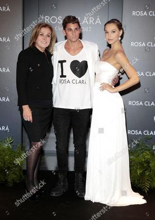 Stock Photo of Rosa Clara, Jay Alvarrez and Alexis Ren