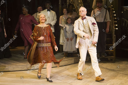 Lucy Briers (Parthy Ann Hawks) and Malcolm Sinclair (Capt Andy Hawks) during the curtain call