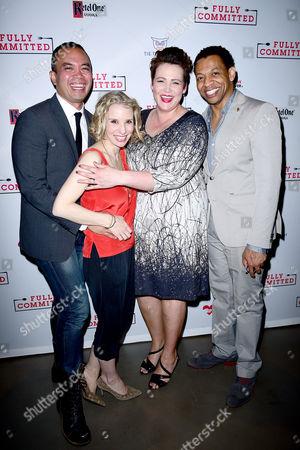 Jose Llana, guest, Lisa Howard, Derrick Baskin