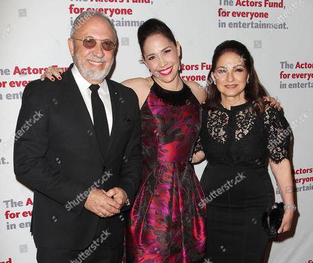 Stock Image of Emilio Estefan, Andrea Burns and Gloria Estefan