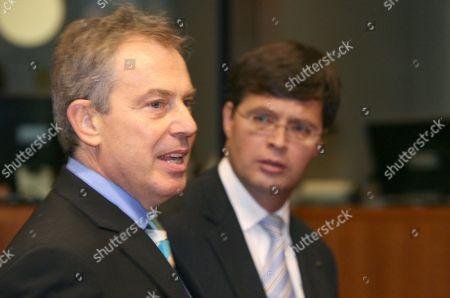 Tony Blair and Jan Peter Balkenende.