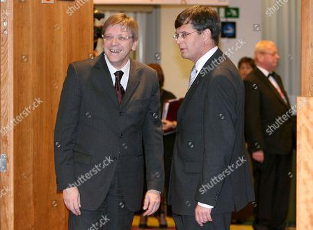 Guy Verhofstadt and Jan Peter Balkenende.