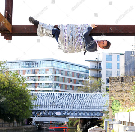 Just hanging around!  London commuters got an eyeful this morning as a number of 'Stags' were spotted across the capital, including this chap who was photographed hanging above the canal near Victoria Park in East London