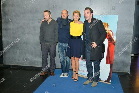 Stock Picture of Cedric Kahn, Laurent Tirard, Virginie Efira and Jean Dujardin