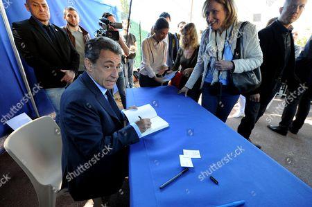 Editorial photo of Nicolas Sarkosy 'La France Pour La Vie' book signing, Nice, France - 26 Apr 2016