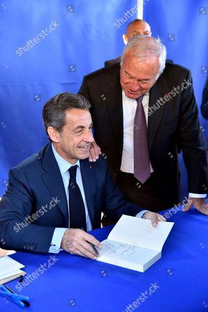 Nicolas Sarkozy and Bernard Brochand
