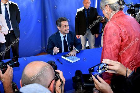 Editorial image of Nicolas Sarkosy 'La France Pour La Vie' book signing, Nice, France - 26 Apr 2016