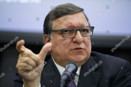 Former President of the European Commission and former Prime Minister of Portugal Jose Manuel Barroso giving a speech on EU referendum