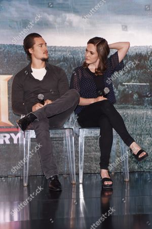 Stock Picture of Alexander Dreymon and Emily Cox