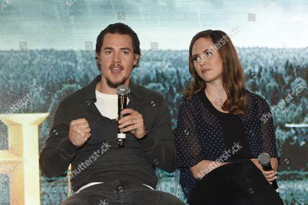 Alexander Dreymon and Emily Cox