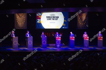 Chuka Umunna, Nick Clegg, Liz Kendall, Andrew Neil, Daniel Hannan, Kate Hoey and Nigel Farage