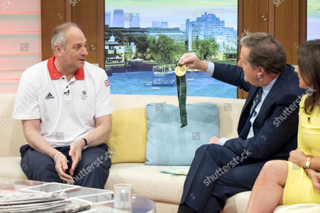 Sir Steve Redgrave with Piers Morgan and Susanna Reid