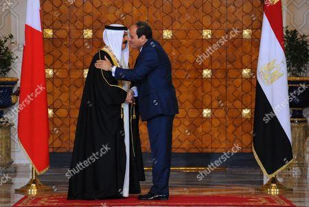 Egyptian President Abdel Fattah al-Sisi meets with Bahrain's King Hamad bin Isa Al Khalifa in the capital Cairo