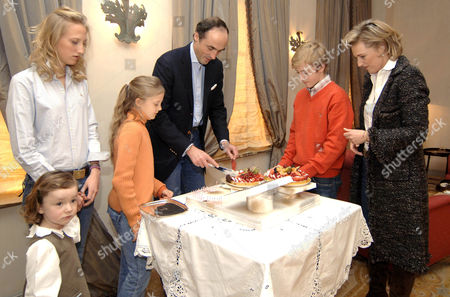 Princess Laetitia Maria, Princess Maria Laura, Princess Luisa Maria, Prince Lorenz, Prince Joachim and Princess Astrid