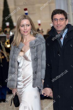 Stock Photo of Melissa George and Jean-David Blanc