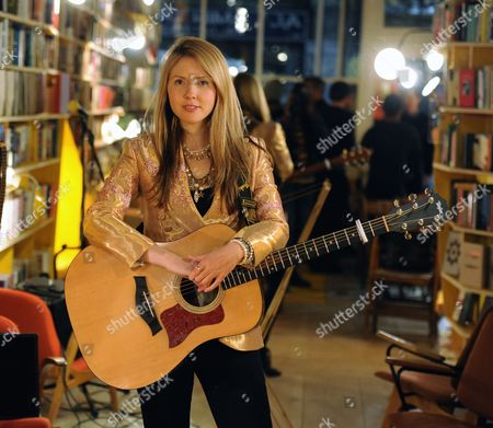 Editorial picture of Beatie Wolfe photo shoot, Libreria, London, Britain - 26 Apr 2016