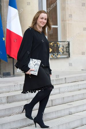 French junior minister for Digital Economy Axelle Lemaire leaves the Elysee presidential Palace after the weekly cabinet meeting in Paris