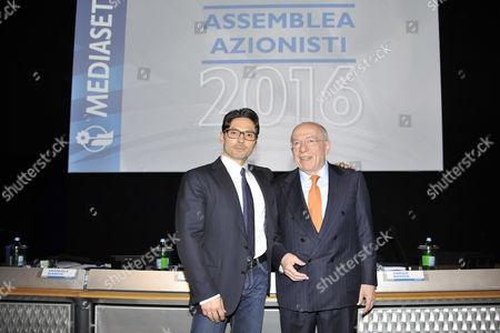 Pier Silvio Berlusconi and Fedele Confalonieri