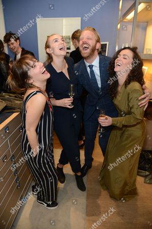 Alistair Guy, Joanna Vanderham, Amy Manson and friend