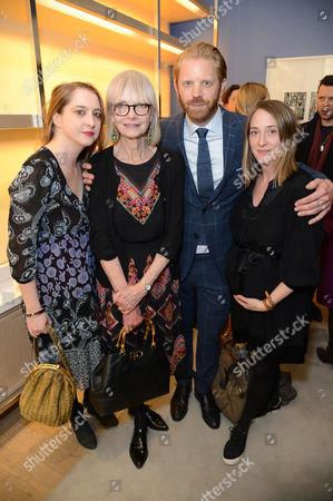 Alistair Guy, Jan De Villeneuve and her daughters Poppy De Villeneuve and Daisy De Villeneuve