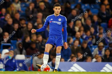 Isaac Christie-Davies of Chelsea U18 during the 2nd leg of the FA Youth Cup Final match between Chelsea and Manchester City played at Stamford Bridge Stadium, London on April 27th 2016