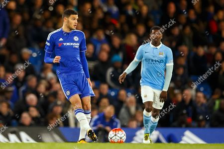 Isaac Christie-Davies of Chelsea U18 and Rodney Kongolo of Manchester City U18 during the 2nd leg of the FA Youth Cup Final match between Chelsea and Manchester City played at Stamford Bridge Stadium, London on April 27th 2016