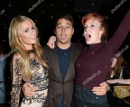 Paris Hilton, Jamie Reuben and Kate Goldsmith