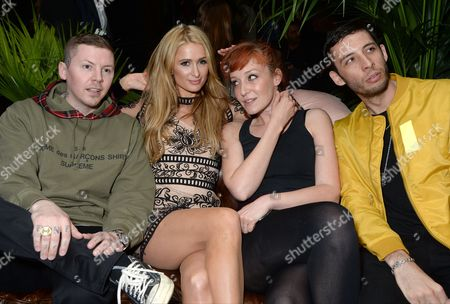 Professor Green, Paris Hilton, Kate Goldsmith and Example